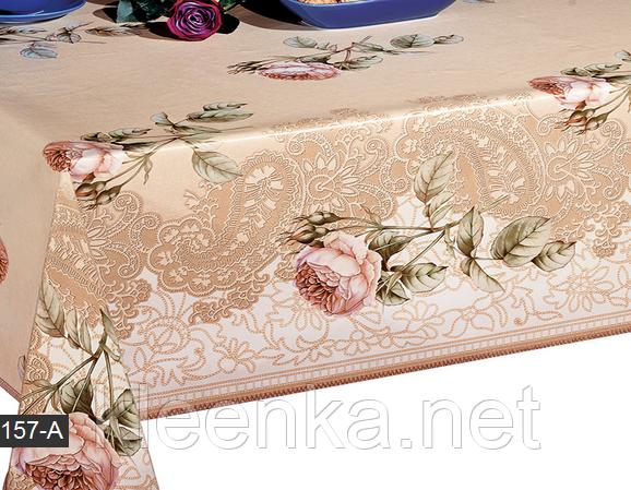 Клеенка с розами для стола на ПВХ основе, фото 2