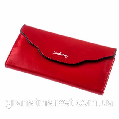 Кошелек baellerry женский красный с 3 отделениями, магнитная застежка, эко кожа