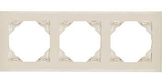 Рамка тройная универсальная EFAPEL LOGUS90 слоновая кость 90930 TMF