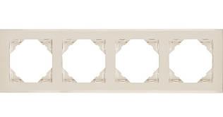 Рамка четырехместная универсальная EFAPEL LOGUS90 слоновая кость 90940 TMF