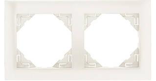 Рамка двойная универсальная EFAPEL LOGUS90 металлик лёд 90920 TGE