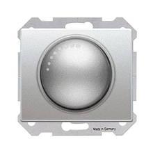 Светорегулятор (диммер) поворотно-нажимной SIEMENS IRIS 500W алюминий Меркурий
