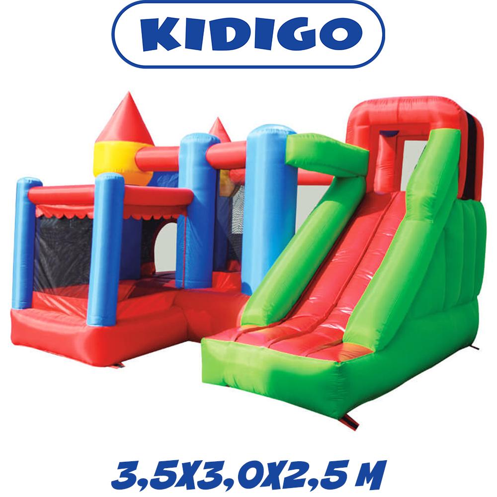 Надувной батут с горкой игровой центр для детей KIDIGO Citadel