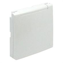 Центральная панель розетки с заземлением 2P+Z с крышкой EFAPEL LOGUS90 металлик лёд 90634 TGE
