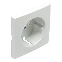 Центральна панель розетки 2P+Z, ШУКО зі шторками LOGUS металік крижаний