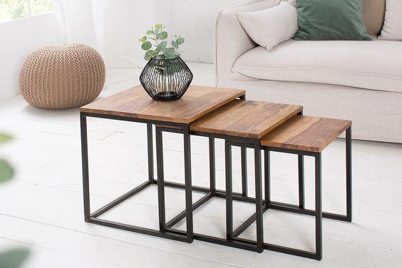 Комплект журнальных столиков GoodsMetall в стиле Лофт КЖС37