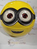 "Шлем детский открытый желтый Миньон, ""MotoTech""."