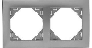 Рамка двойная универсальная EFAPEL LOGUS90 металлик алюминиевый 90920 TAL