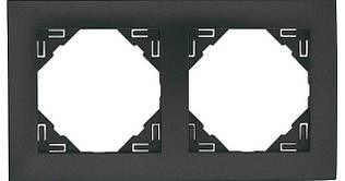 Рамка двойная универсальная EFAPEL LOGUS90 металлик графитовый 90920 TIS