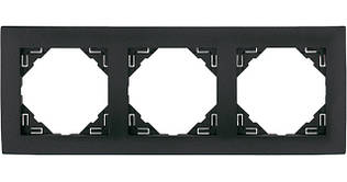 Рамка тройная универсальная EFAPEL LOGUS90 металлик графитовый 90930 TIS