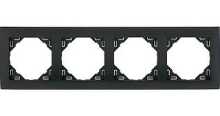 Рамка четырехместная универсальная EFAPEL LOGUS90 металлик графитовый 90940 TIS