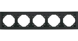 Рамка пятиместная универсальная EFAPEL LOGUS90 металлик графитовый 90950 TIS