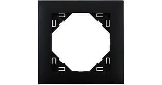 Рамка одинарная универсальная EFAPEL LOGUS90 черный матовый 90910 TPM