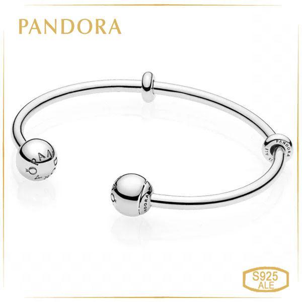 Пандора Відкритий браслет-трансформер Moments (17,5 см) Pandora 596477