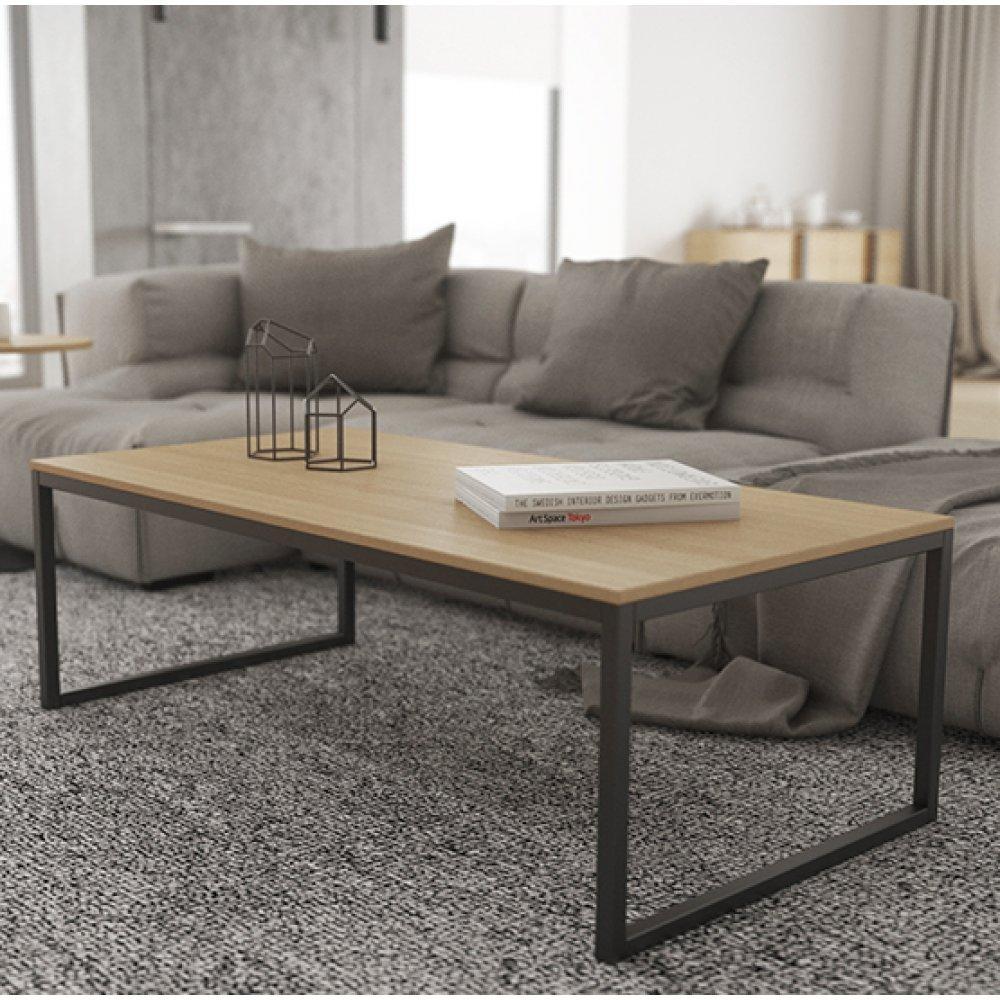 Журнальный, кофейный столик GoodsMetall в стиле Лофт 1200х600х420 ЖС464