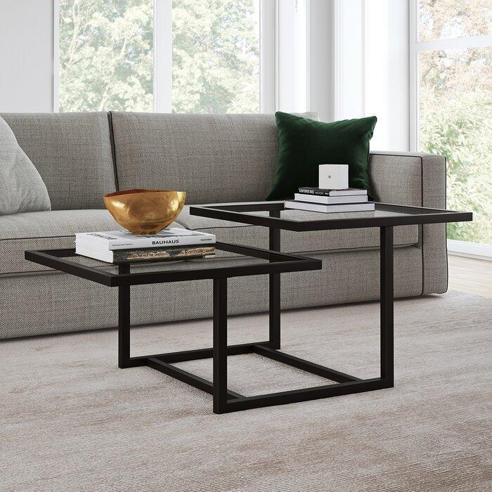 Журнальный, кофейный столик GoodsMetall в стиле Лофт 1200х600х460 ЖС122