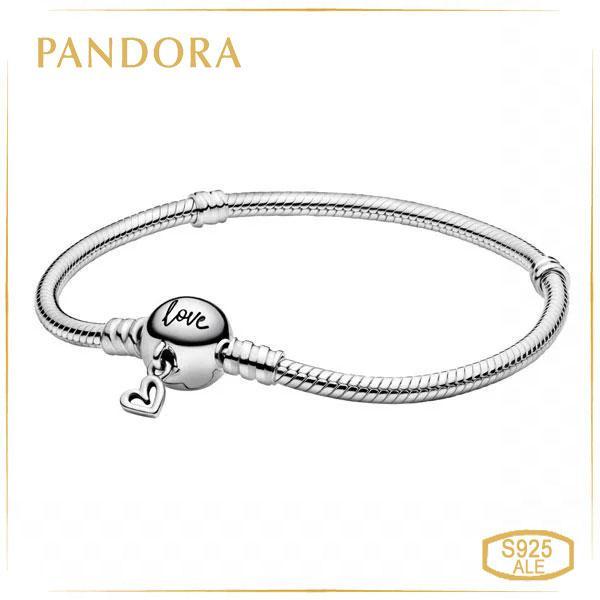 Пандора Серебряный браслет с подвеской в форме сердца (17 см) Pandora 598698C00