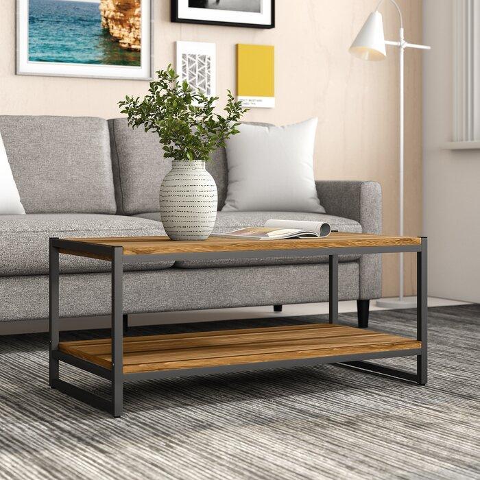 Журнальный, кофейный столик GoodsMetall в стиле Лофт 1000х500х450 ЖС161