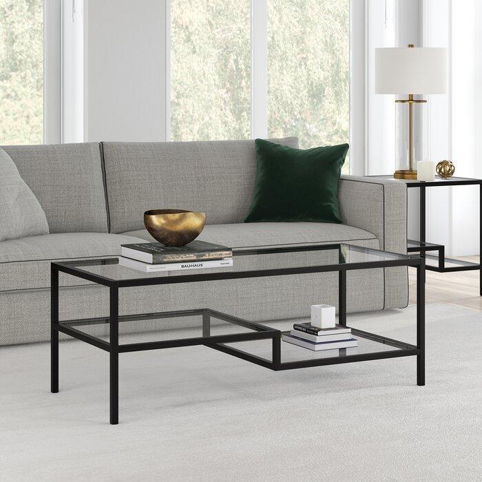 Журнальный, кофейный столик GoodsMetall в стиле Лофт 1200х500х450 ЖС163