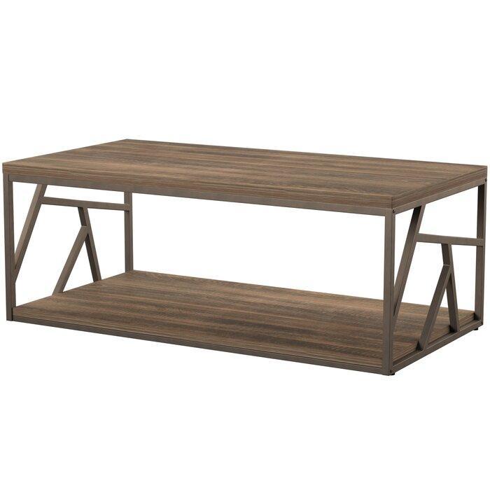Журнальный, кофейный столик GoodsMetall в стиле Лофт 1200х600х400 ЖС164