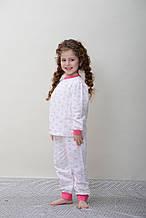 Детская пижама для девочки SMIL Украины 00701104 белый, розовый