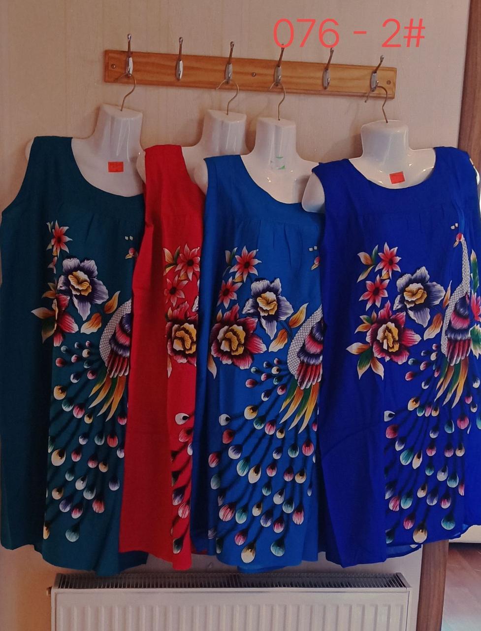 Женское летнее платье-туника Батал