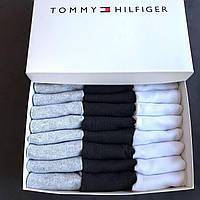 Укороченные мужские носки TOMMY HILFIGER, подарочный набор 30 пар в фирменной коробке!