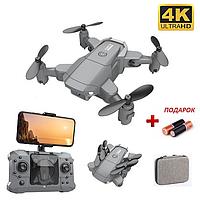 Квадрокоптер Мини Дрон KY905 с 4K WI-FI камерой, FPV, барометр, до 10 минут в кейсе