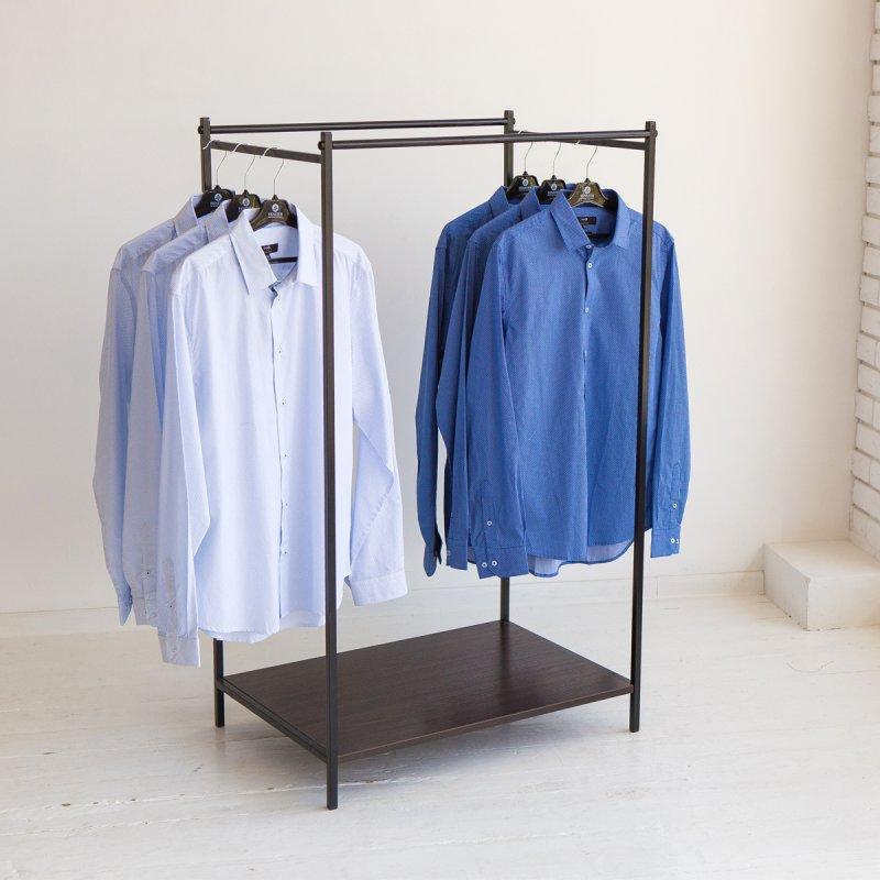 Вешалка стойка для одежды GoodsMetall в стиле Лофт 1500х800х500мм ВШ115