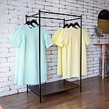 Вешалка стойка для одежды GoodsMetall в стиле Лофт 1500х800х500мм ВШ115, фото 2