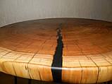 Журнальный столик круглый из натурального дерева Ясен 48*53 см. Кофейный столик для гостиной. Столик лофт, фото 5