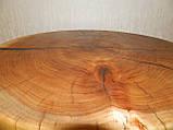 Журнальный столик круглый из натурального дерева Ясен 48*53 см. Кофейный столик для гостиной. Столик лофт, фото 8