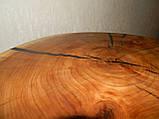 Журнальный столик круглый из натурального дерева Ясен 48*53 см. Кофейный столик для гостиной. Столик лофт, фото 9