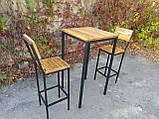 Комплект барный (стол+стулья) GoodsMetall в стиле Лофт БК71, фото 2