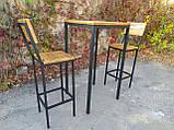 Комплект барный (стол+стулья) GoodsMetall в стиле Лофт БК71, фото 3