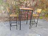 Комплект барный (стол+стулья) GoodsMetall в стиле Лофт БК71, фото 4
