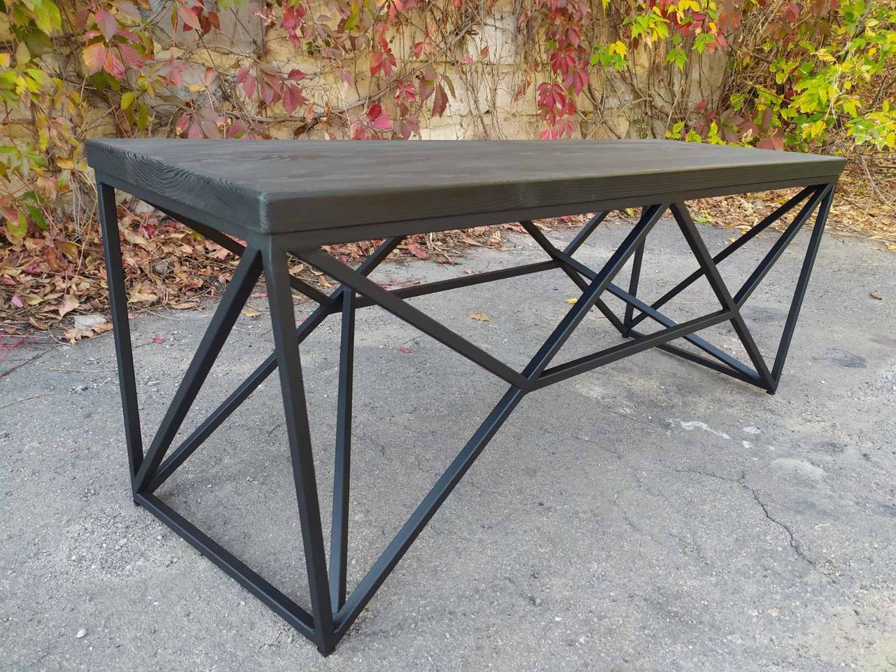 Журнальный, кофейный столик GoodsMetall в стиле Лофт 1200х400х450 ЖС777