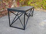 Журнальный, кофейный столик GoodsMetall в стиле Лофт 1200х400х450 ЖС777, фото 2