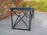 Журнальный, кофейный столик GoodsMetall в стиле Лофт 1200х400х450 ЖС777, фото 5