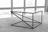 Журнальний, кавовий столик GoodsMetall металевий в стилі Лофт 400х700х700 ЖС1185, фото 2