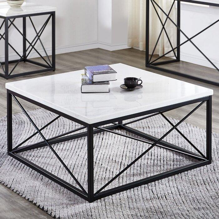 Журнальный, кофейный столик GoodsMetall в стиле Лофт 900х900х450 ЖС1169