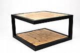 Журнальний, кавовий столик GoodsMetall в стилі Лофт 1200х600х400 Прага максі, фото 2