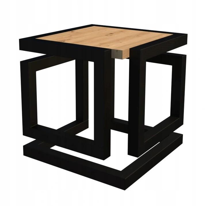 Журнальний, кавовий столик GoodsMetall в стилі Лофт 450х450х550 ЖС467