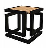 Журнальний, кавовий столик GoodsMetall в стилі Лофт 450х450х550 ЖС467, фото 2