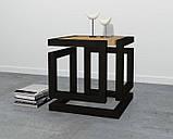 Журнальний, кавовий столик GoodsMetall в стилі Лофт 450х450х550 ЖС467, фото 3