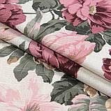 Комплект декоративних Штор в дитячу Іспанія DATURA Великі квіти Рожевий, арт. MG-164714, 170 * 135 см (2 шт.), фото 2