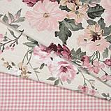 Комплект декоративних Штор в дитячу Іспанія DATURA Великі квіти Рожевий, арт. MG-164714, 170 * 135 см (2 шт.), фото 3