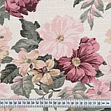 Комплект декоративних Штор в дитячу Іспанія DATURA Великі квіти Рожевий, арт. MG-164714, 170 * 135 см (2 шт.), фото 4