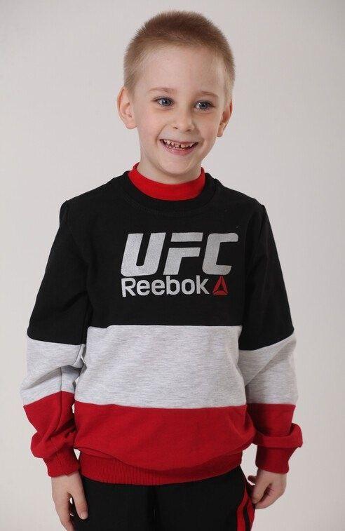 Детский джемпер для мальчика с принтом Reebok двухнитка