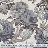 Комплект декоративних Штор в дитячу Іспанія DATURA Великі квіти Сірий, арт. MG-164715, 170 * 135 см (2 шт.), фото 3